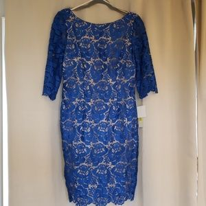 👗NWT Eliza J royal blue lace dress